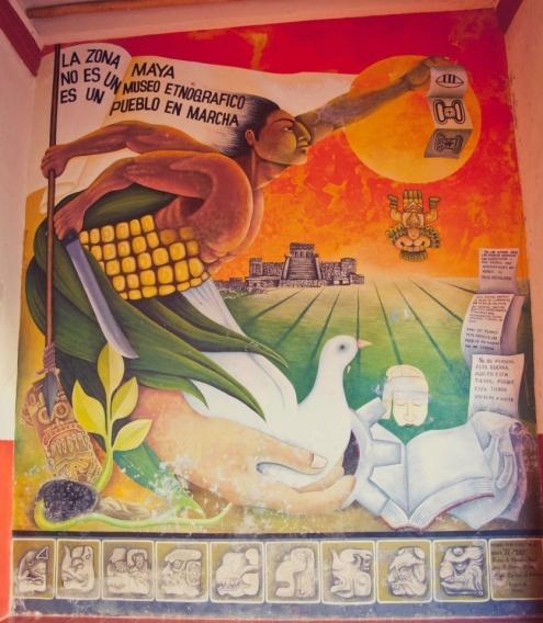 La Zona Maya no es un museo etnographico, es un pueblo en marcha